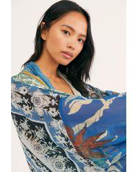 Free People Leonora Kimono - Blue