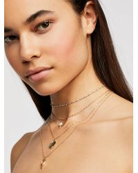 Free People - Delicate Tiered Stone Necklace - Lyst