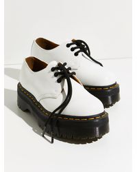 Free People Dr. Martens 1461 Quad Oxfords - White