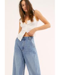 Free People Crvy Berlin Wide-leg Jeans By We The Free - Blue