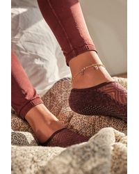 Free People 14k Gold Plated Anklet Set - Metallic