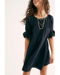 Free People Charlie Mini Dress By Endless Summer - Black