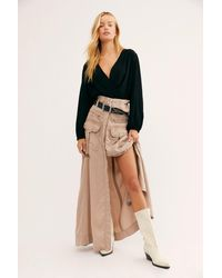 Free People The Feeling Of Falling Utility Skirt - Multicolor