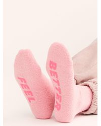 Free People Feel Better Cosy Grip Socks By Ban. Do - Pink