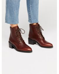 Free People - Zephyr Lace Up Boot - Lyst