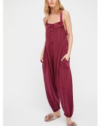 Free People - Cosy Lounge Playsuit - Lyst