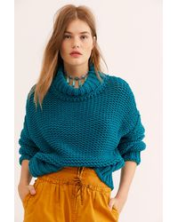 Free People My Only Sunshine Sweater - Blue