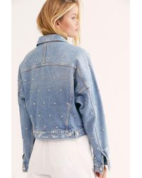 Free People Night After Night Denim Jacket By We The Free - Blue