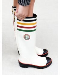 Free People National Parks Tall Rain Boot - White