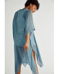 Free People Cabana Woven Kimono - Blue