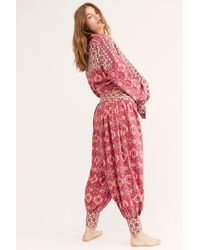 Free People Holibabe Sleep Pants By Intimately - Red