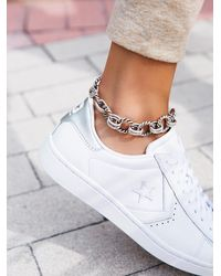 Free People - Chain Link Metal Anklet - Lyst