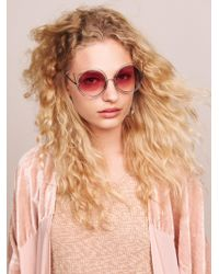 Free People - Cool Cat Wire Frame Sunnies - Lyst