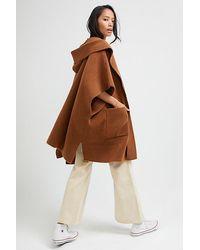 Free People All I Need Cosy Hooded Kimono - Brown