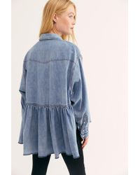 Free People We The Free Dylan Babydoll - Blue