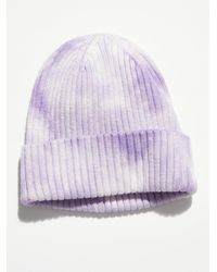 Free People Partly Cloudy Rib Beanie - Purple