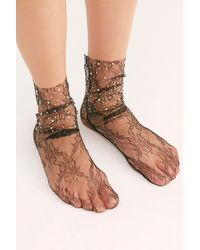 Free People - Crystal Lace Socks By High Heel Jungle - Lyst