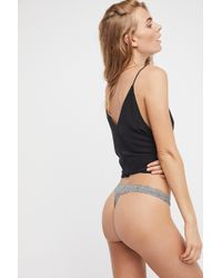 Free People Smooth Thong By Intimately - Black