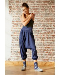 Free People Give Your All Harem Pant By Fp Movement - Blue