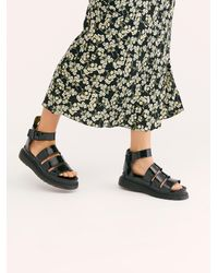 Free People Dr. Martens Clarissa Ii Flatform Sandals - Black