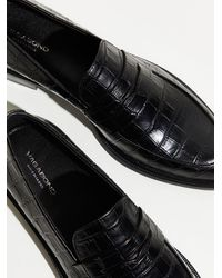 Free People Vagabond Frances Croc Loafers - Black