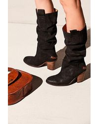 Free People Montgomery Slouch Boot - Black