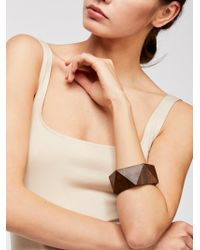 Free People - Wooden Bangle By Adia Kibur - Lyst
