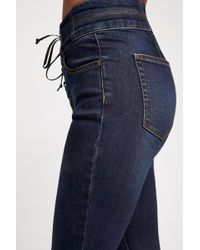 Free People Crvy High-rise Lace-up Skinny Jeans By We The Free - Blue