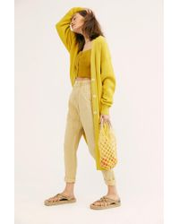 Free People Run To You Cardi - Yellow