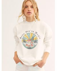 Free People Baby You're Magic Pullover By Girl Dangerous - White