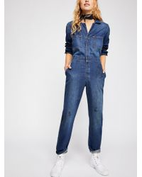 Free People Lee Union Boilersuit - Blue