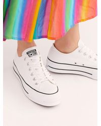 Free People Chuck Taylor All Star Lift Sneakers - White