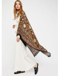 Free People Magic Dance Border Print Kimono - Black