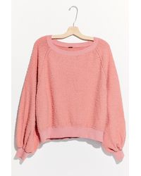 Free People Found My Friend Sweatshirt - Pink
