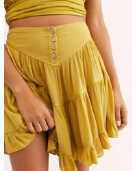 Free People Anza Skirt By Endless Summer - Metallic