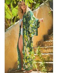 Free People Hidden Hills Maxi Kimono - Green