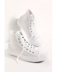Converse Chuck Taylor All Star Crochet Hi-top Trainers - White