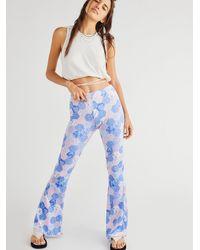 Free People Endoria Patchwork Flare Pants - Purple