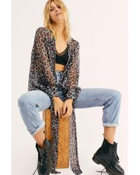 Free People Amazon Tie Front Kimono - Multicolor