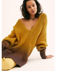 Free People Come Together Tunic - Yellow