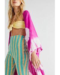 Free People Spellbound Tie Dye Kimono - Pink