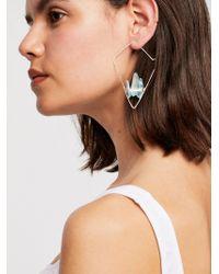 Free People - Mint Geode Threader Earrings - Lyst