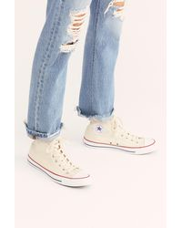 Free People Charlie Hi Top Converse Trainer - Blue