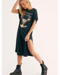 Free People Journey Maxi Tee By Daydreamer - Black