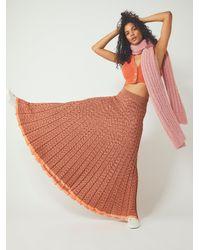 Free People - Gold Coast Knit Maxi Skirt - Lyst