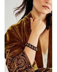 Free People Wild Wild West Leather Bracelet - Black