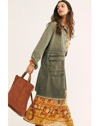 Free People Ellie Leather Studded Backpack - Brown