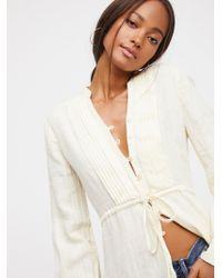 Free People - Steal The Sunshine Buttondown - Lyst