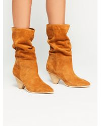 Free People Stella Slouch Boot By Jeffrey Campbell - Orange