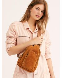 Free People Hudson Suede Sling Bag By Fp Collection - Brown